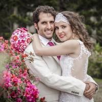 Natalia y Nicolás, un amor colorido y rústico por La Fábrica