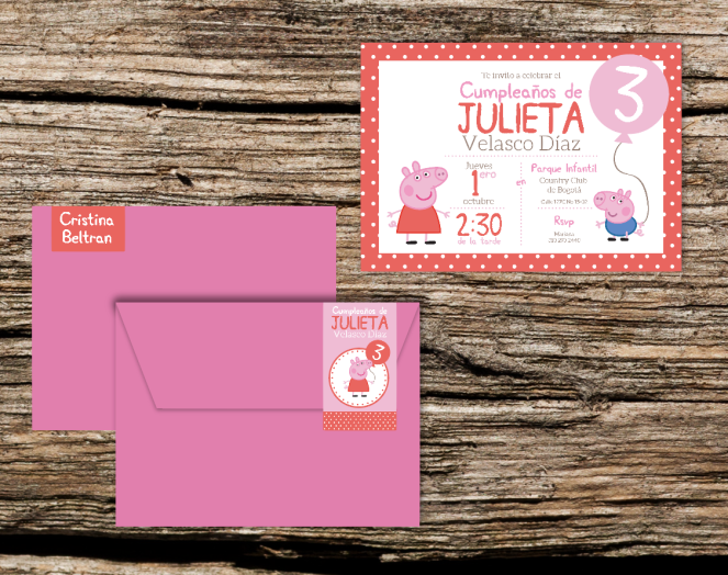invitación Peppa