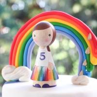 El hada Fernanda cumple 5! Un arcoiris lleno de color